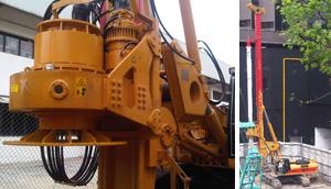hydraulic piling rig